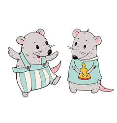cartoon mice vector image vector image