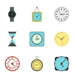 Electronic watch icons set flat style vector