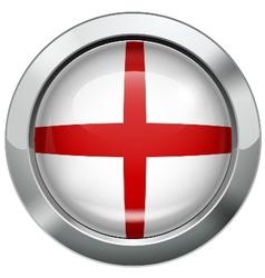 England flag metal button vector image vector image