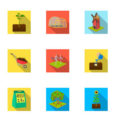 farm garden and other web icon in flat style vector image vector image