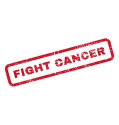 Fight cancer text rubber stamp vector