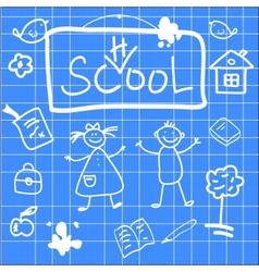 Fun of back to school sketch vector image