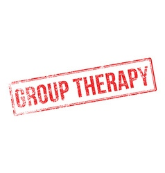 Group therapy red rubber stamp on white vector