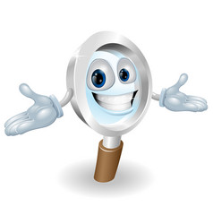 magnifying glass mascot vector image vector image