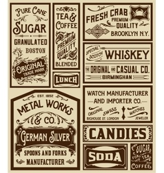 Mega pack old advertisement designs and labels - vector image