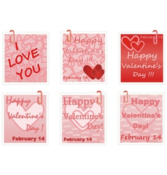 notes for Valentines Day vector image