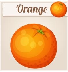 Orange fruit cartoon icon vector