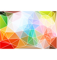 Rainbow colors geometric background with mesh vector