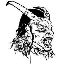 Satan head with scary face vector