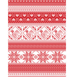 Seamless nordic christmas pattern vector