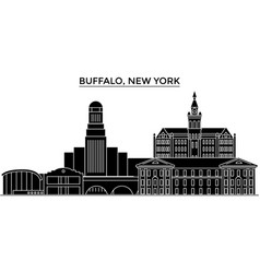 Usa buffalo new york architecture city vector