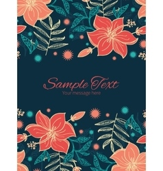 Vibrant tropical hibiscus flowers vertical vector