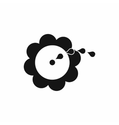 Watering flower icon simple style vector