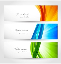 Set of banners with rays vector