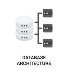 Database architecture icon vector