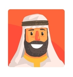 Muslim man in keffiyeh famous touristic attraction vector