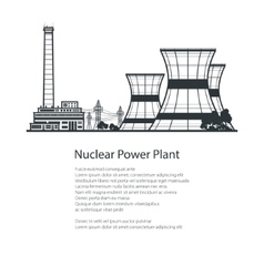 Thermal power station poster brochure design vector