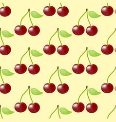 Cherry fruit seamless pattern vector