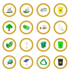 ecology cartoon icon circle vector image