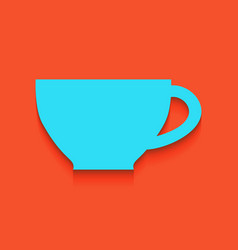 Cup sign  whitish icon on brick wall as vector