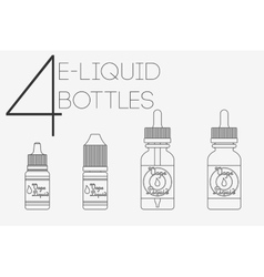 4 thin lines e-liquid bottles vector