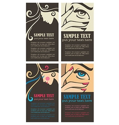Beauty business cards vector
