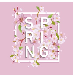 Floral spring graphic design - for t-shirt fashion vector