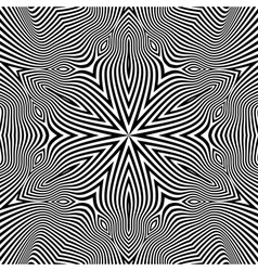 Black and White Geometric Pattern Abstract vector image