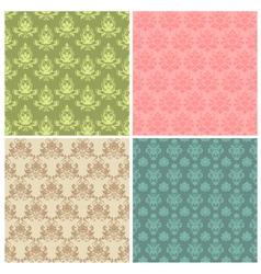 damask ornamental patterns vector image