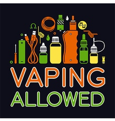 Icons set of vape vector