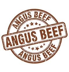 Angus beef brown grunge round vintage rubber stamp vector