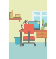 Background of modern workplace vector