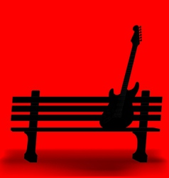 Bench Guitar 1 vector image vector image