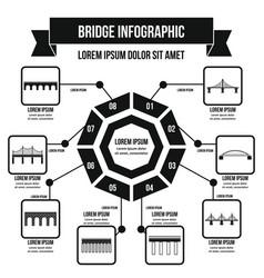 Bridge infographic concept simple style vector