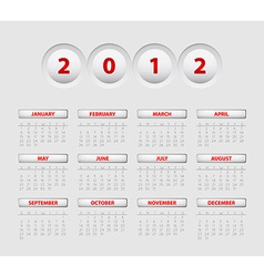 Button calendar 2012 vector