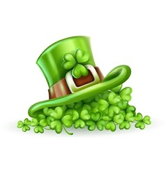 Cap of Saint Patrick in the vector image