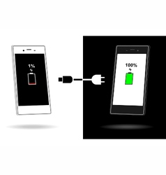 Charger smart phone battery vector