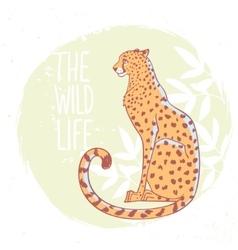 Cheetah in color vector