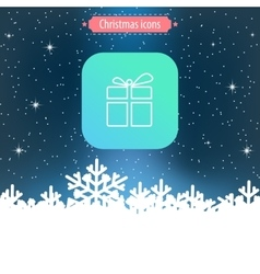 Christmas icon thin line design vector