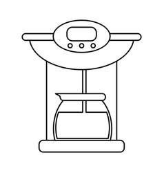 Coffee maker pot machine outline vector