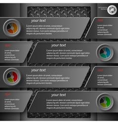 dark infographics 5 vector image