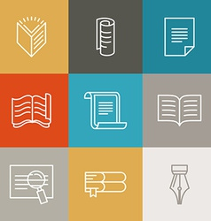 document and paper signs and icons vector image vector image