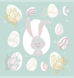 Easter bunny - modern colorful celebration vector