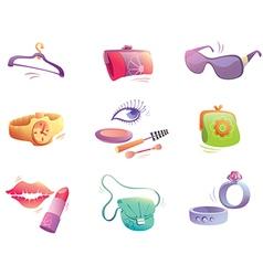 Fashion Accessories Set vector image