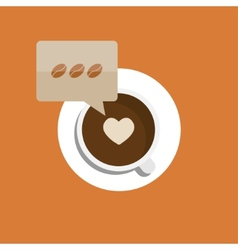 flat modern coffee background Eps 10 vector image vector image