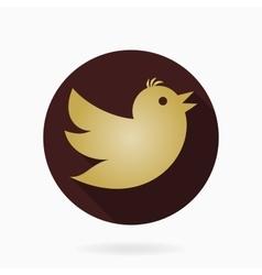 Flying bird flat icon vector