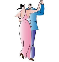 happy couples vector image vector image