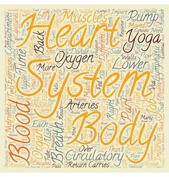 How Yoga benefits the circulatory system text vector image