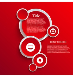 infographic background design Eps10 vector image vector image