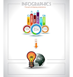 Infographic elements - Cloud and Technology vector image vector image